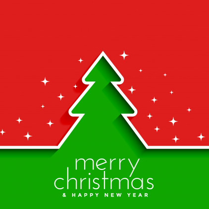 Beautiful Christmas Tree DP Green Red Color for Whatsapp