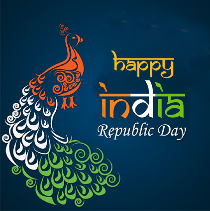 Beautiful Indian Republic Day Peacock DP