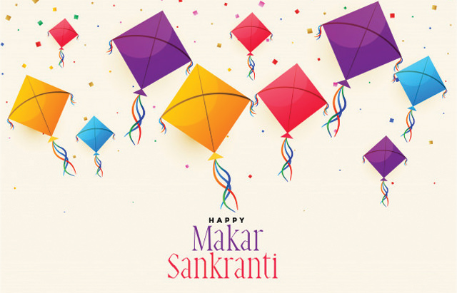 Beautiful Kites Images with Sankranti Wishes