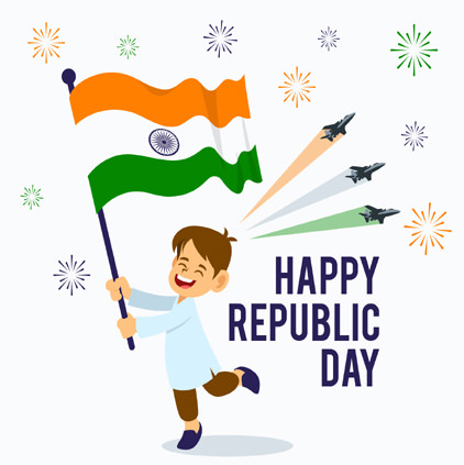 Cute Republic Day Whatsapp Status DP