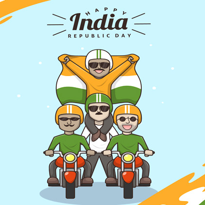 Happy India Republic Day Bike Riders