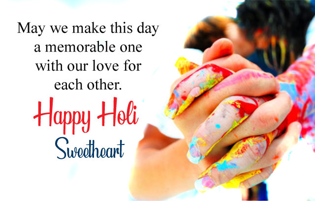 Holi Wishes for Girlfriend Boyfriend