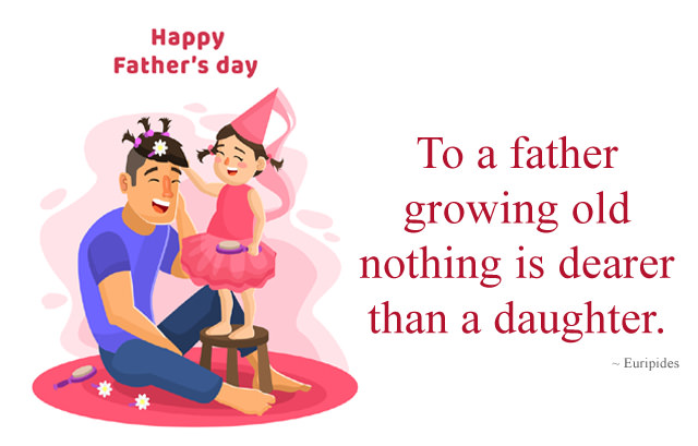 Short Father Day Quote From Daughter
