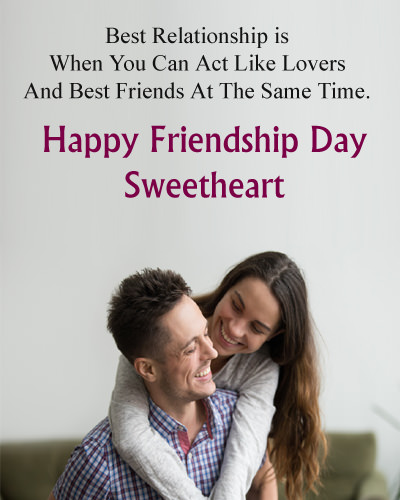 Friendship Day Love Wishes for Boyfriend From Girlfriend