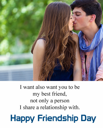 Friendship Day Love Wishes for Girlfriend From Boyfriend