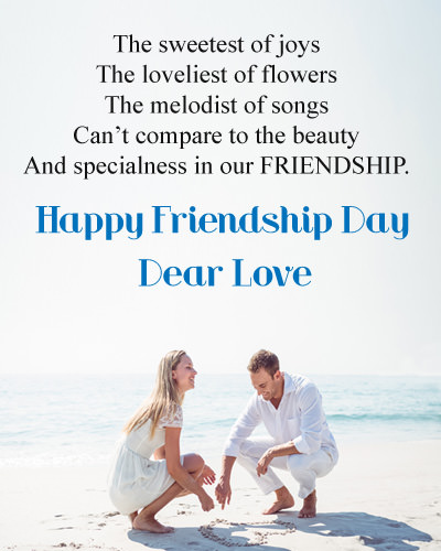Friendship Day Messages for GF in English
