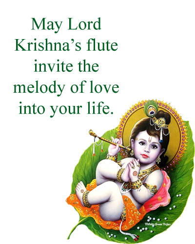 Lord Krishna Flute Melody of Love Quote
